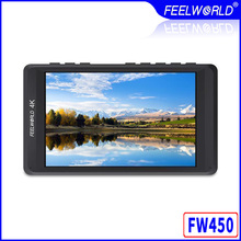 Feelworld FW450 4.5 IPS 4K HDMI Camera Field Monitor 1280x800 HD Portable LCD Monitor for DSLR with Peaking Focus Check Field feelworld f5 5inch dslr on camera field monitor small full hd 1920x1080 ips video peaking focus assist with 4k hdmi and tilt arm