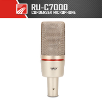 YUEPU C7000 Professional Condenser Microphone 38mm Large Diaphragm High Sensitivity Studio Stage 48V Phantom Power High