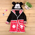 Cartoon Mickey Minnie mouse Children Flannel Robe Soft Bathrobe For Girls Boys Kids Home Wear disfraz infantile 2 3 4 5 6 7 Year