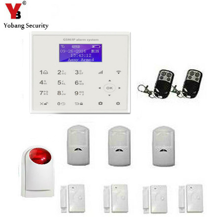 YobangSecurity Wireless Wifi GSM GPRS Android IOS APP Home Burglar Security Alarm System with Wireless Flash Strobe Siren yobangsecurity gsm wifi burglar alarm system security home android ios app control wired siren pir door alarm sensor