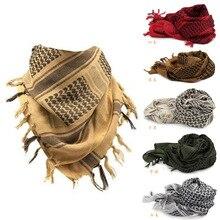 Shemagh foulards militaires islamiques, Bandana Palestine, foulard en coton tactique, multifonction, carré épais, enveloppe arabe Keffiyeh