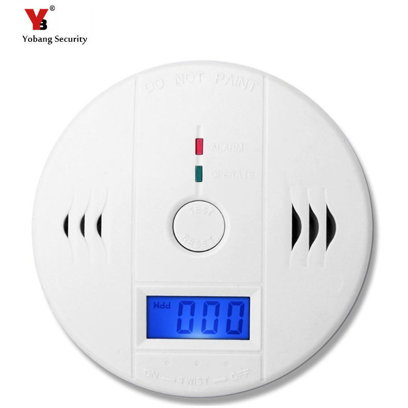 Monitor Poisoning-Sensor-Detector Carbon-Monoxide Security CO LCD Independent Yobang