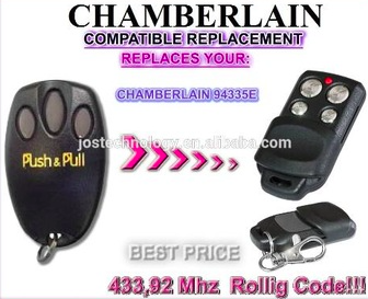 The remote for Chamberlain 94335E replacement 433MHZ rolling code garage door remote