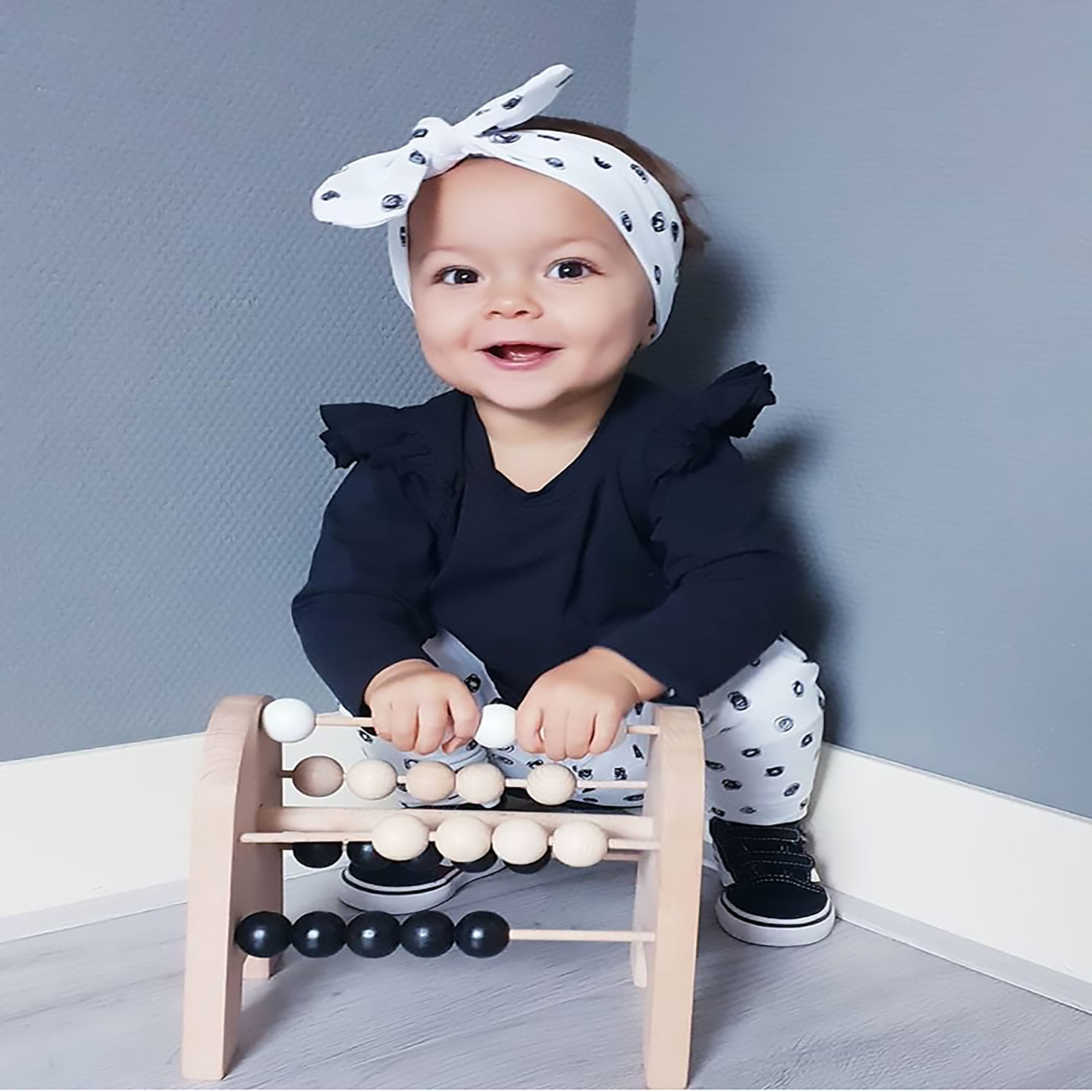 New 3Pcs Newborn Infant Baby Girl Clothes Set Cute Solid Color Ruffle Long Sleeve Tops Pants Headband Toddler Girl Clothing Suit