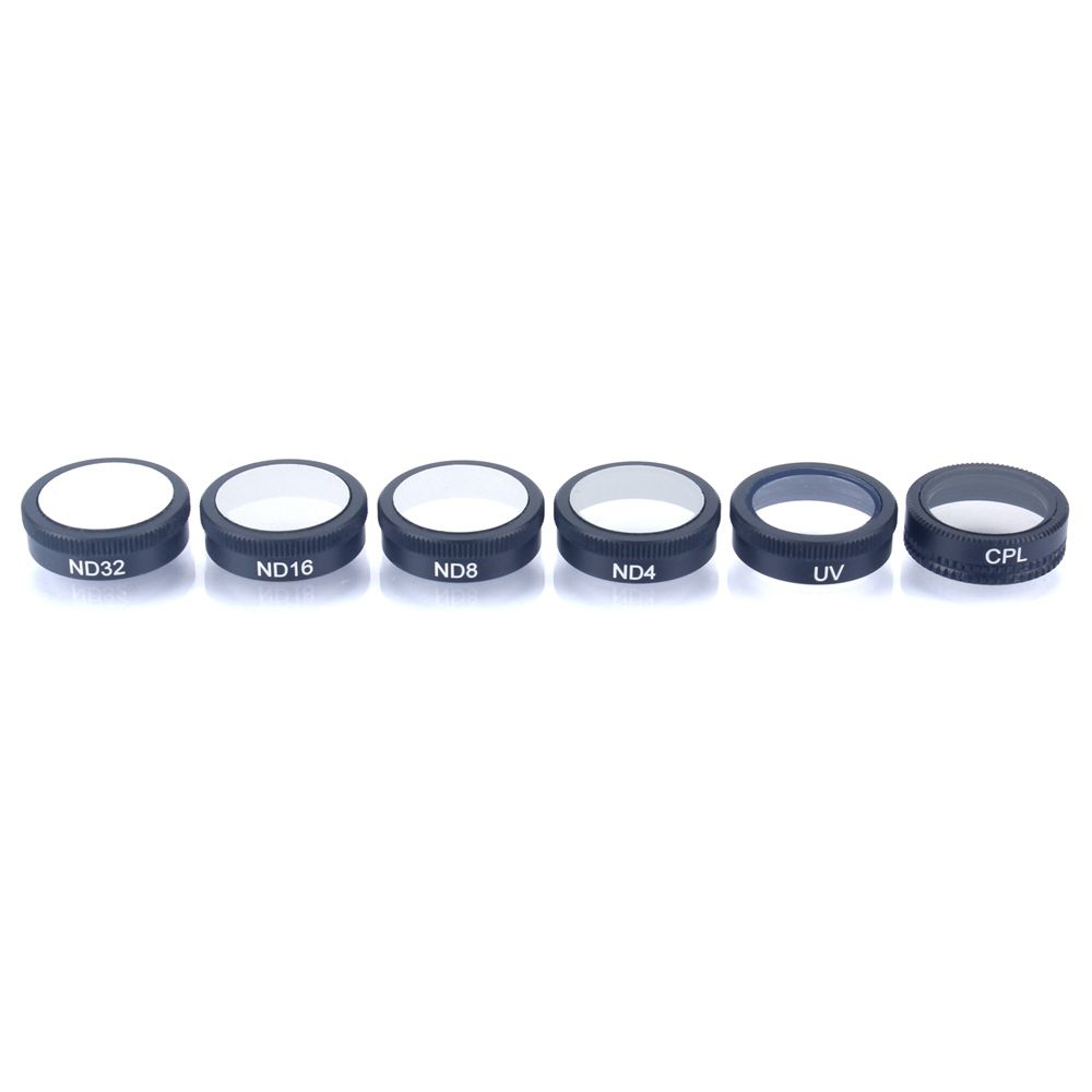 Lens filters For DJI Mavic Air,4K Camera Lens Multi Coated Filters pack(6 Pack) ND4, ND8, ND16, ND4/CPL, ND8/CPL, ND16/CPL