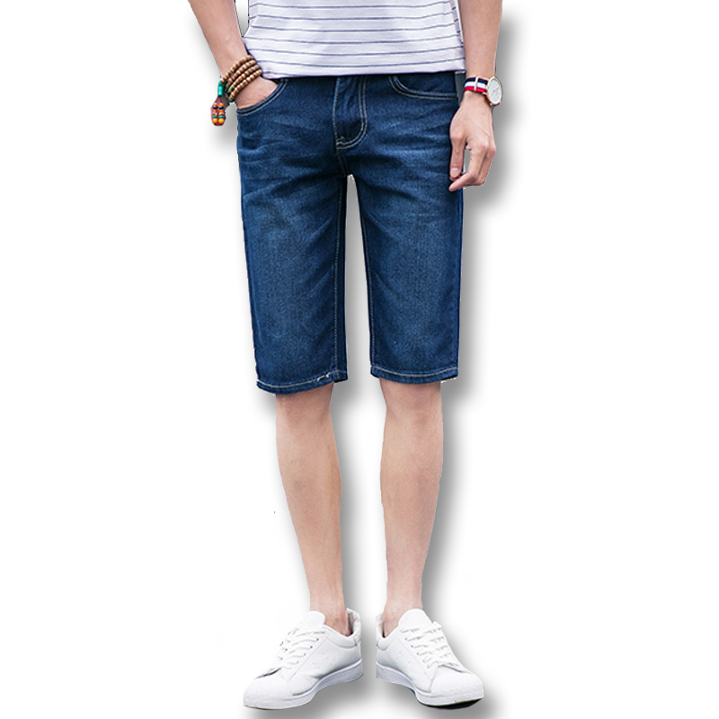 2017 New Summer Denim Jeans Shorts Men's Casual Fashion Slim Fit Large Size Knee Length Outwear Male Shorts Clothing Men Shorts aismz new high quality jeans men casual fashion trouser slim fit ankle length scratched denim pants male brand clothing 60006