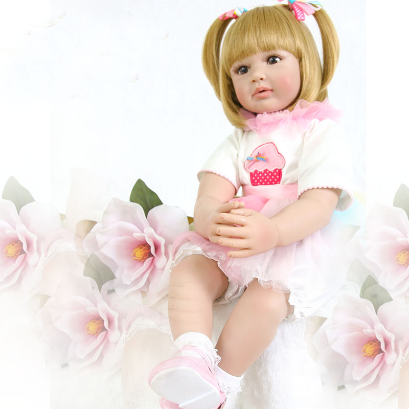 22-24inch 58-60cm Bebes Reborn Doll Soft Silicone Boy Girl Toy Reborn Baby Doll Gift for Children Pink Dress NPK DOLL22-24inch 58-60cm Bebes Reborn Doll Soft Silicone Boy Girl Toy Reborn Baby Doll Gift for Children Pink Dress NPK DOLL