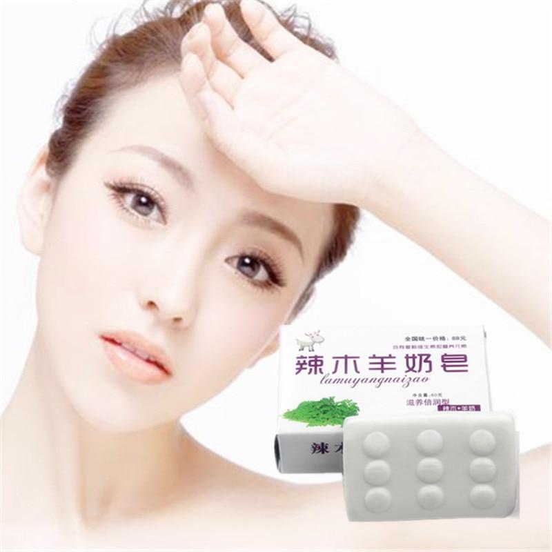 High Quality 1Pcs Facial Soap Face Care Anti Oxidant Anti Aging Anti Wrinkle Whitening Hydrating Moisturizing Goat Milk Soap 40g