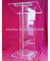 Free Shipping High Quality Price Reasonable Beautiful Acrylic Podium Pulpit Lectern|Theater Furniture| |  -