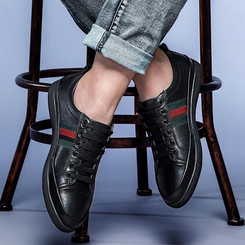 Luxe 100 Robe En Normal Qualité Cuir Chaussures Décontractées Véritable Nouvelle Hommes Derbies Mode D'affaires Supérieure 2019 Black De Marque Appartements Bottes Oxford q4AntTZn