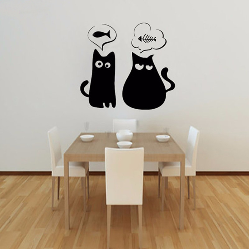 Cat Wall Decor compare prices on cat wall art decal- online shopping/buy low