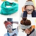 Nova variedade de método desgaste Cotton Elastic Sports Headbands Ampla Headband HB054