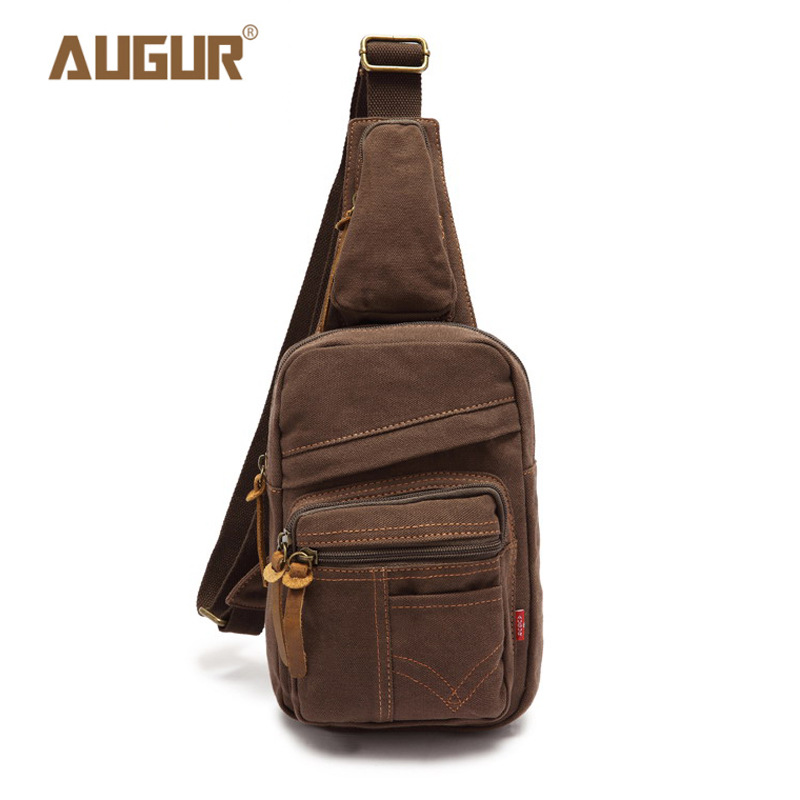 AUGUR Man Shoulder Bag Men's Canvas Messenger Bags Male Casual Travel Military Larger Sling Chest pack Bag New Chest Sling Bag augur 2018 men chest bag pack functional canvas messenger bags small chest sling bag for male travel vintage crossbody bag