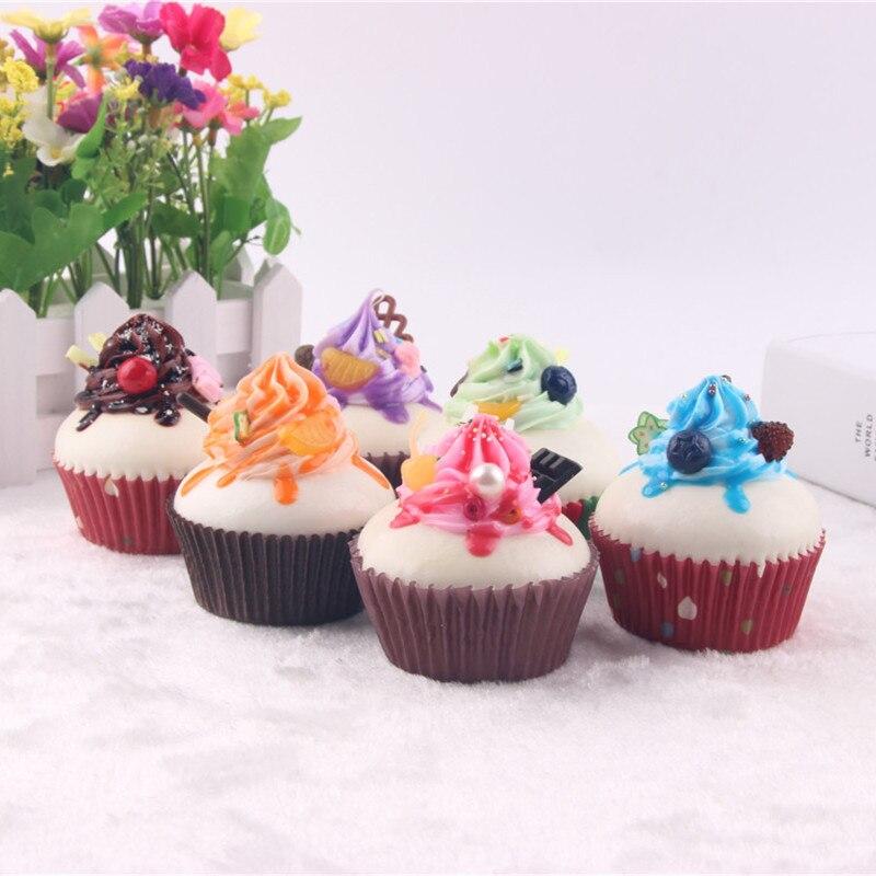 1 Stück 7 Cm Pappbecher Creamy Kuchen Kinder Küche Spielzeug Similation Bäckerei Dekoration Requisiten Zuckerguss Nette Kuchen Spielzeug Zufällig Farbe