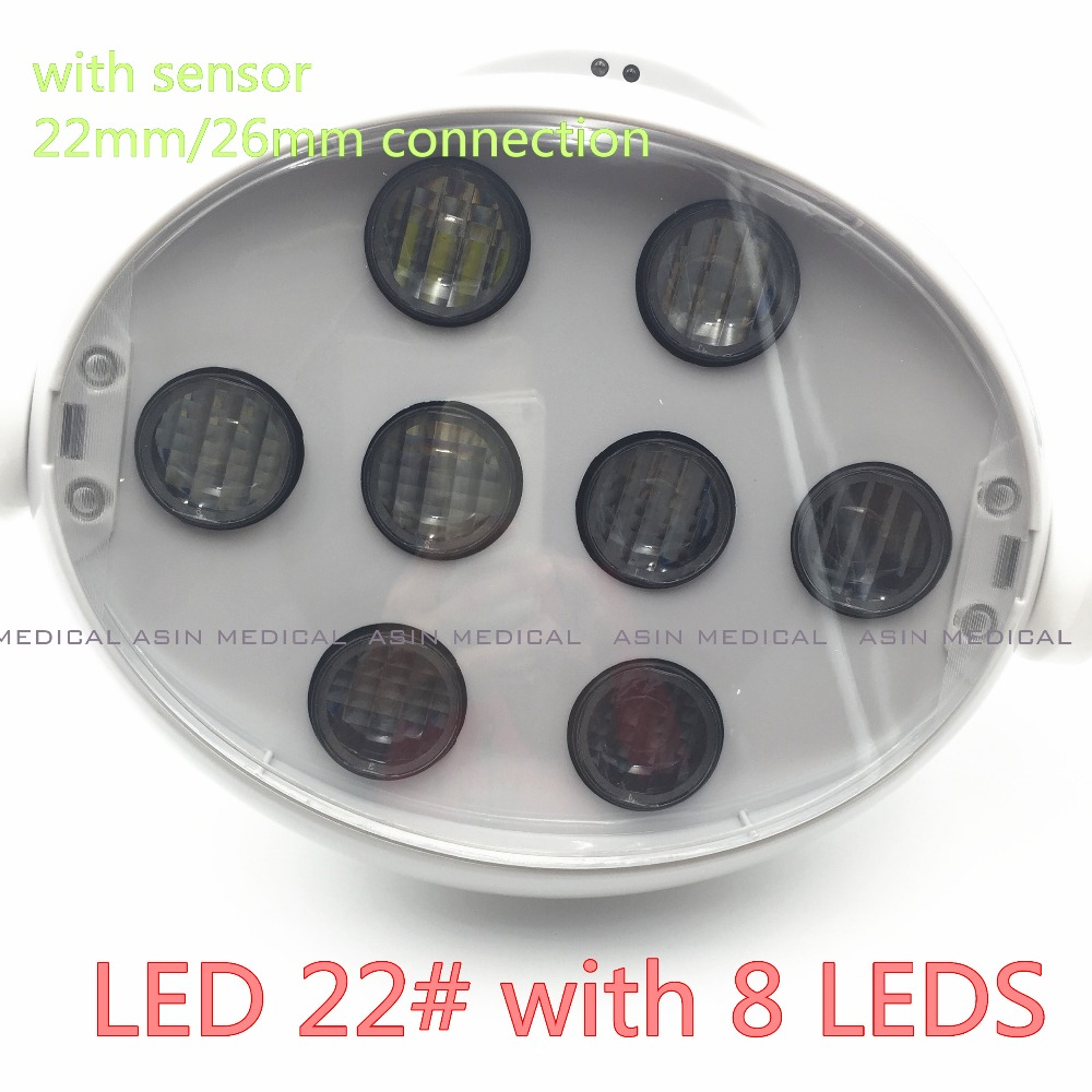 Good quality Dental Operating Oral Lamp LED light  For Dental Chair Unit shadowless 8 leds high power Luxury sensing LED