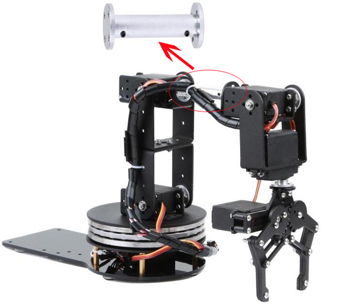 Robot Accessories machanical arm extension arm 6 degrees of freedom manipulator parts optimal adaptive visual servoing of robot manipulators
