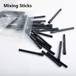 Image 2 - For Tattoo Ink Pigment Mixer Tattoo Mix Sticks Tattoo Pigment Ink Mixer 100pcs Plastic Mixing Sticks Microblading Pigment Sticks