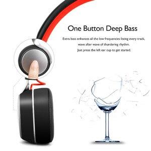 Image 3 - Oneodio A8 Bluetooth אוזניות עם מיקרופון LED אור סופר עמוק בס מתכת מתקפל ספורט Bluetooth 4.2 אוזניות אלחוטיות