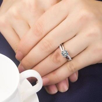 Solid Platinum 1CT Diamond Engagement Ring  6