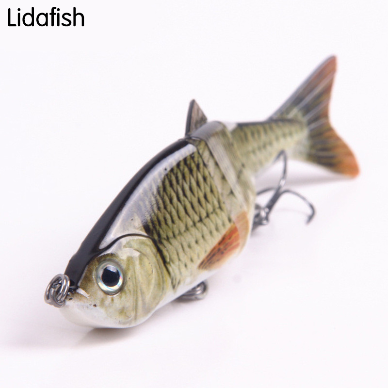 lure fishing artificial bait 12cm 17g Lure bait Pike Muskie bait the same to the real fishs Hard tackle Baits with 2 hooks
