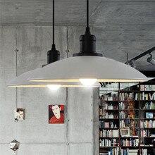 E27 Retro Industrie Loft Stil Restaurant Bar Cafe Kreative Eisen Topf anhänger lampe Dia32cm AC110V 220 v 230 v