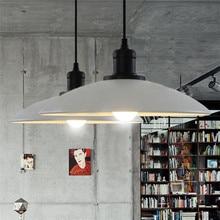 Lampe suspendue en fer de Style rétro E27, Style industriel, Pot créatif en fer pour Loft, Restaurant, café, dia32 cm, ac 110/220/230V
