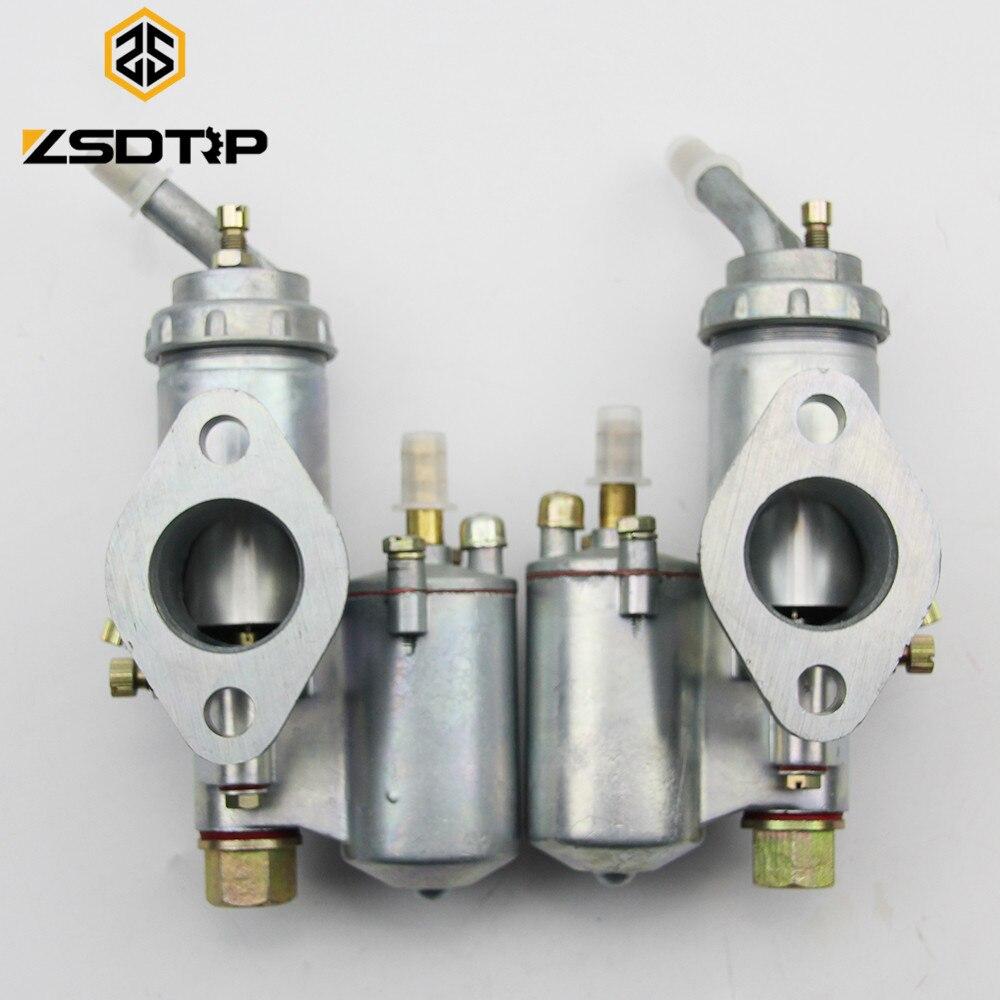 ZSDTRP Twin KC750 Cyclinder Motor de Moto Carburador Carburador PZ28 Caso para BMW R50 R60 R12 KC750 R1 R71 M72 MW 750