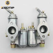 ZSDTRP podwójne Cyclinder KC750 silnik motocyklowy gaźnika PZ28 gaźnika Case dla BMW R50 R60 R12 KC750 R1 R71 M72 MW 750