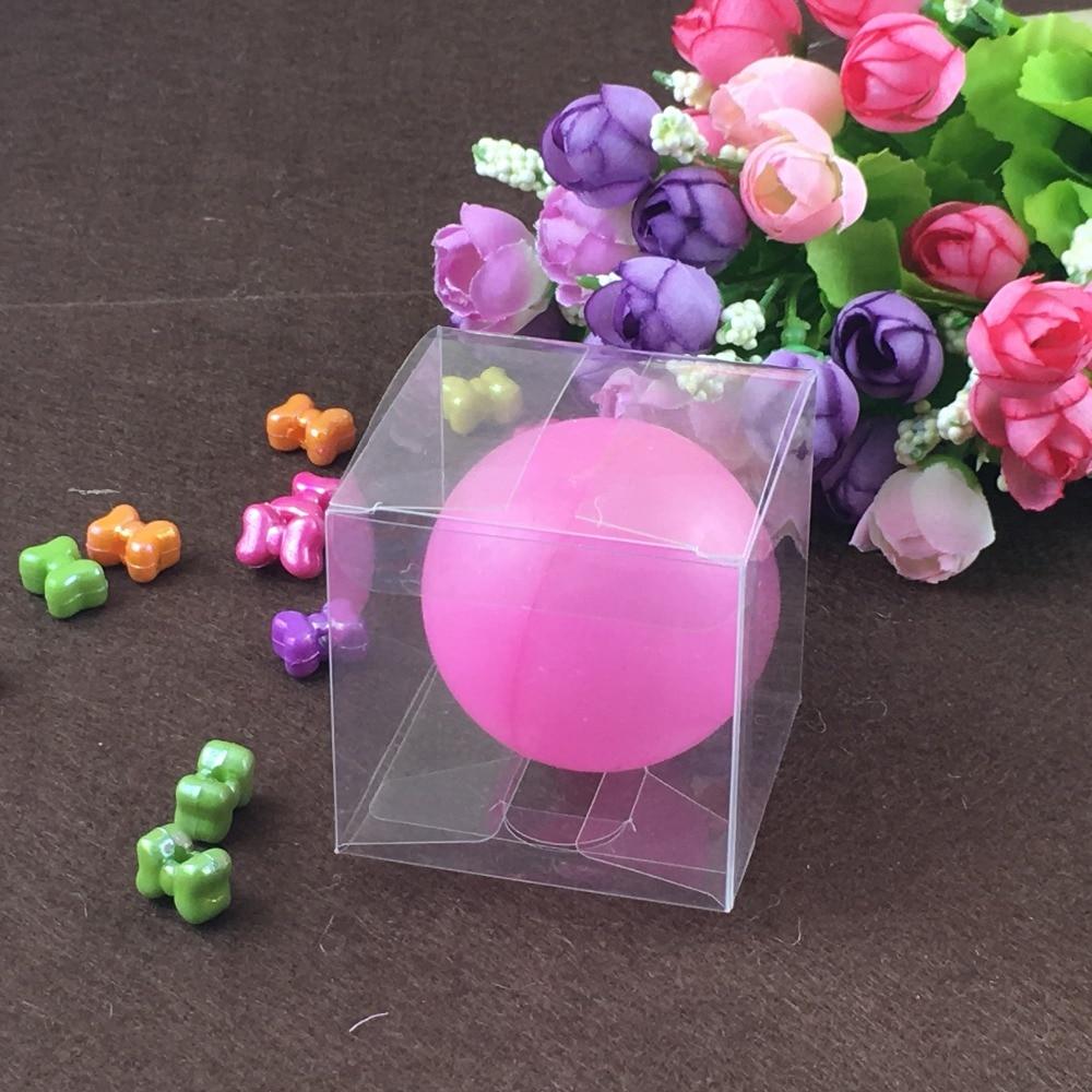 ヾ(^▽^)ノ50 unids 6*6*6 cm cajas plásticas claras del PVC embalaje ...