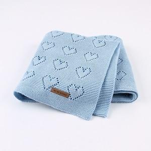 Image 5 - Baby Decke Gestrickt Baumwolle Sommer Sachen Für Neugeborene Wickeln Kinderwagen Decke Kleidung Cobertor Infantil Wrap Monatliche Kinder Quilt
