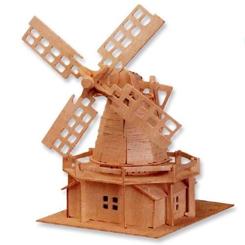 LeadingStar 3D Wooden Puzzle Holland Windmill Model Children and Adult s Educational Building Blocks Puzzle Toy