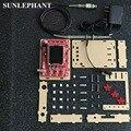 "DSO138 2.4 ""TFT Pocket-size Kit de Peças DIY Handheld Digital Oscilloscope + Caso DIY + P6100 Sonda + 9 V Poder adaptador Para DSO138"
