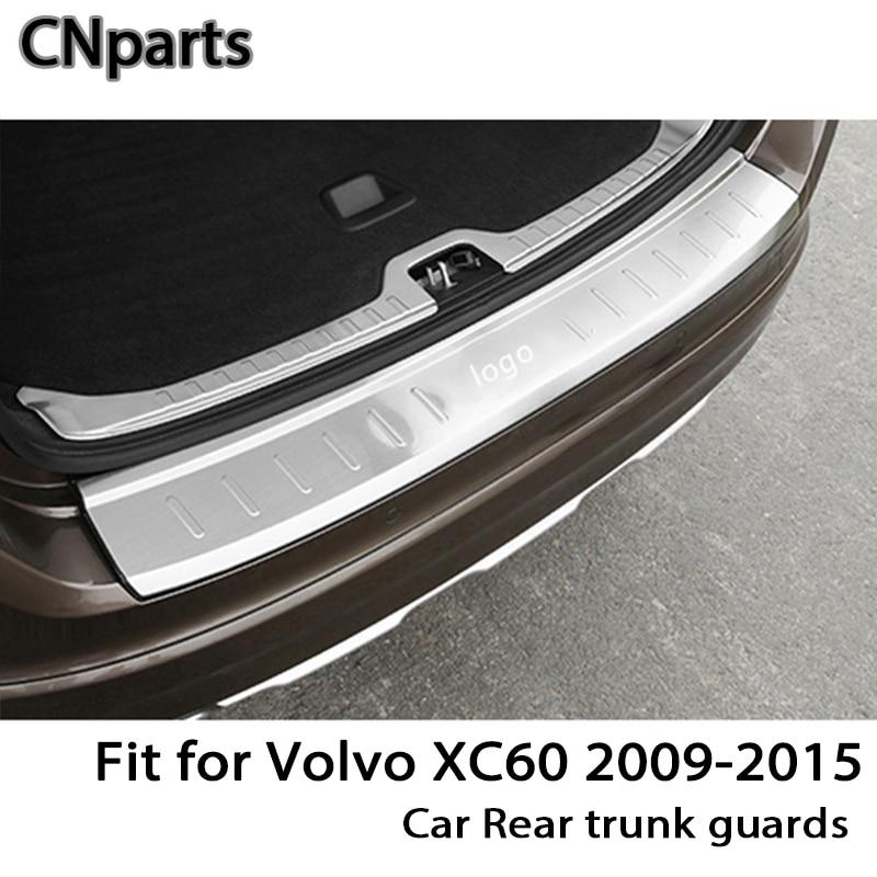 CNparts For Volvo XC60 2009-2015 Auto Car Rear Trunk Door Bumper Anti Scratch Strips Accessories