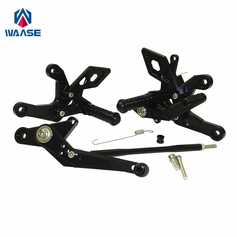 waase Adjustable Rider Rear Set Rearsets Footrest Foot Rest Pegs For Honda CB500 CB500F CB500X CBR500R