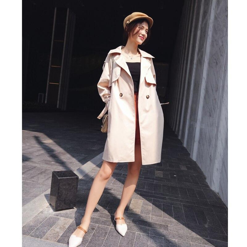 2019 New Coreano Di Stile Del Ricamo Cappotto Di Alta Della Vita Del Cappotto Delle Donne Vestiti Primavera E In Autunno Trench Mx17c7311