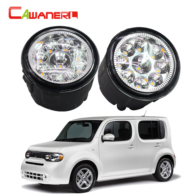 Cawanerl 2 X H11 H8 Car LED Light Fog Light Daytime Running Light DRL White Orange Blue For Nissan Cube Z12 Hatchback 2009-2014 cawanerl h8 h11 auto fog light drl daytime running light car led lamp bulb for toyota prius hatchback zvw3 1 8 hybrid 2009