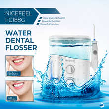 Nicefeel 1000ML Water Dental Flosser Electric Oral Irrigator Care Dental Flosser Water Toothbrush Dental SPA with 7pcs Tips - DISCOUNT ITEM  45% OFF All Category