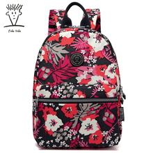 Fido Dido Сумка Женская Корейская версия тренда печати студенты сумка небольшой свежий рюкзак!