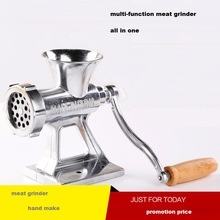 meat grinder family daily use hand-make Multi-function sausage machine filler Household hand stir garlic manually hand cast manual meat grinding machine household meat sausage filler machine aluminum alloy twist filling garlic cutter