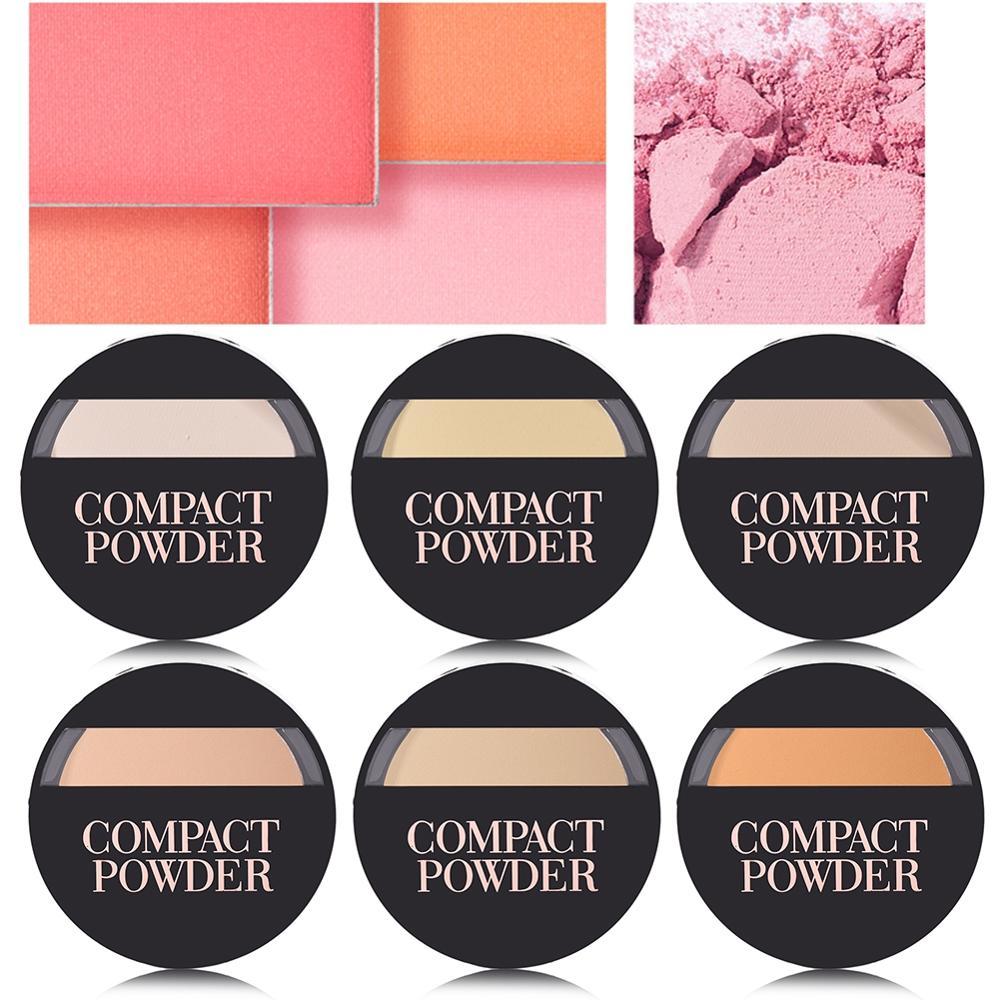 1pc 6 Colors Natural Long Lasting Whitening Concealer Foundation Oil Control Matte Blush Rouge Contour Powder Cake