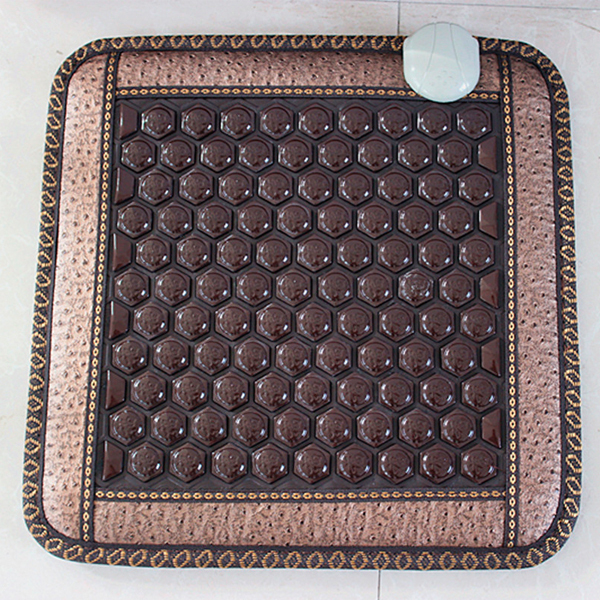 Good Quality! Natural Jade Mat Tourmaline Heat Chair Cushion Far Infrared Heat Pad Health Care Mat AC220V 45*45CM Free Shipping цены