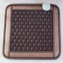 Good Quality! Natural Jade Mat Tourmaline Heat Chair Cushion Far Infrared Heat Pad Health Care Mat AC220V 45*45CM Free Shipping