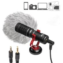 BOYA BY-MM1 Video Handheld Microphone Livestream Recording for iphone Smartphone for Canon Sony DSLR Camcorder condense mikrofon boya by mm1 compact on camera video microphone youtube vlogging recording mic for iphone nikon canon dslr smooth q feiyu gimbal