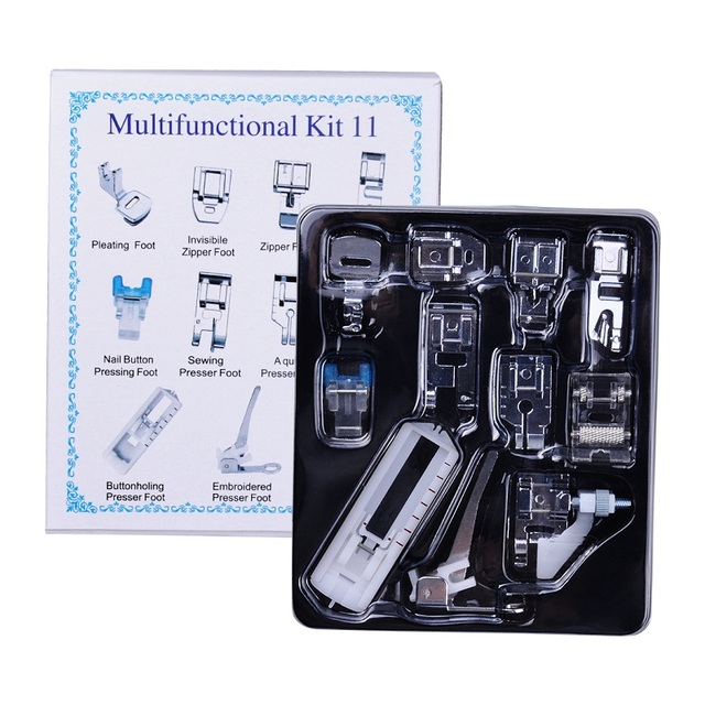 11pcs Mini Multifunction Presser Foot Spare Parts Accessories Presser Foot Set For Sewing Machine Brother Singer