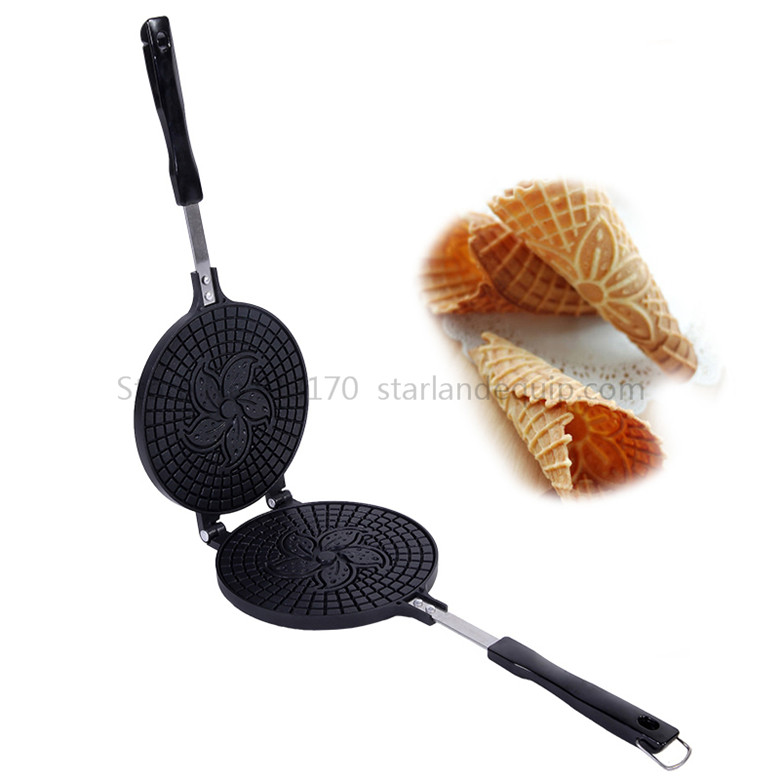 Crispy Egg Roll Maker Crispy Ice Cream Cone Mould Waffle Baking Tool Hot Sale with Non-stick Cooking Surface недорого