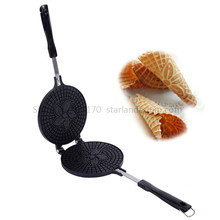 Waffle-Baking-Tool Egg-Roll-Maker with Non-Stick Cooking-Surface Cone-Mould Crispy Ice-Cream