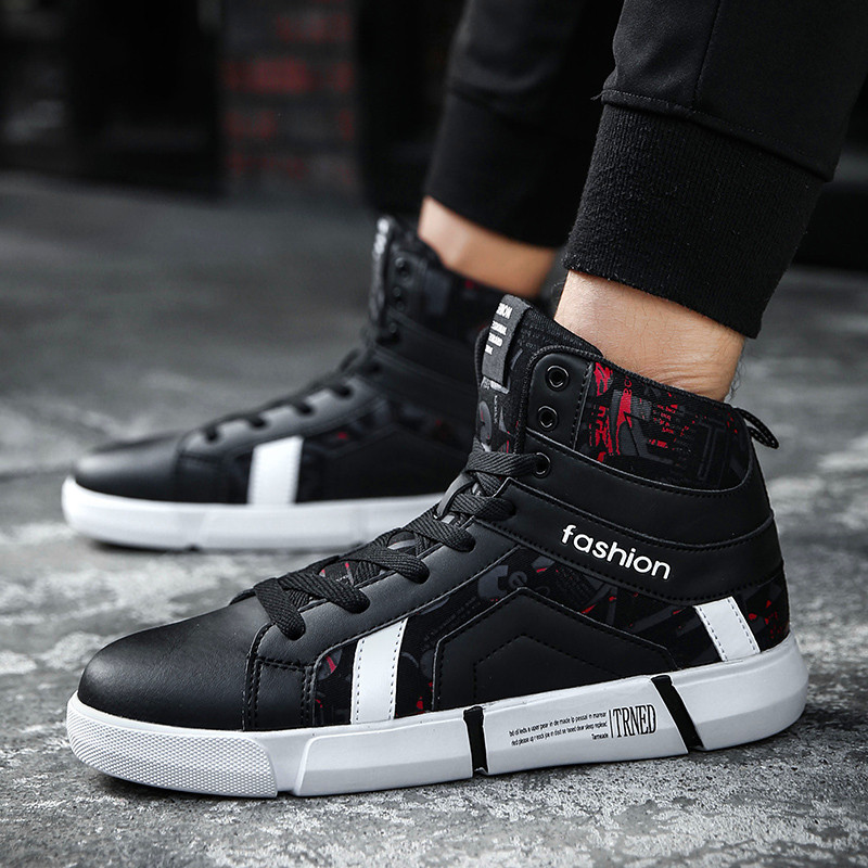 Winter Men Casual Shoes Fashion Sneaker Autumn Man Boots Footwear For Man New High Top Canvas Walking Shoes Flat Outdoor Leisure hot sale 2016 top quality brand shoes for men fashion casual shoes teenagers flat walking shoes high top canvas shoes zatapos