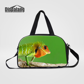 See More Dispalang Travel Handbags Fashion Clothes Organizer Lizard Print  Large Capacity Travel Shoulder Bag Women Luggage Traveling Bag 32d45d1258b16