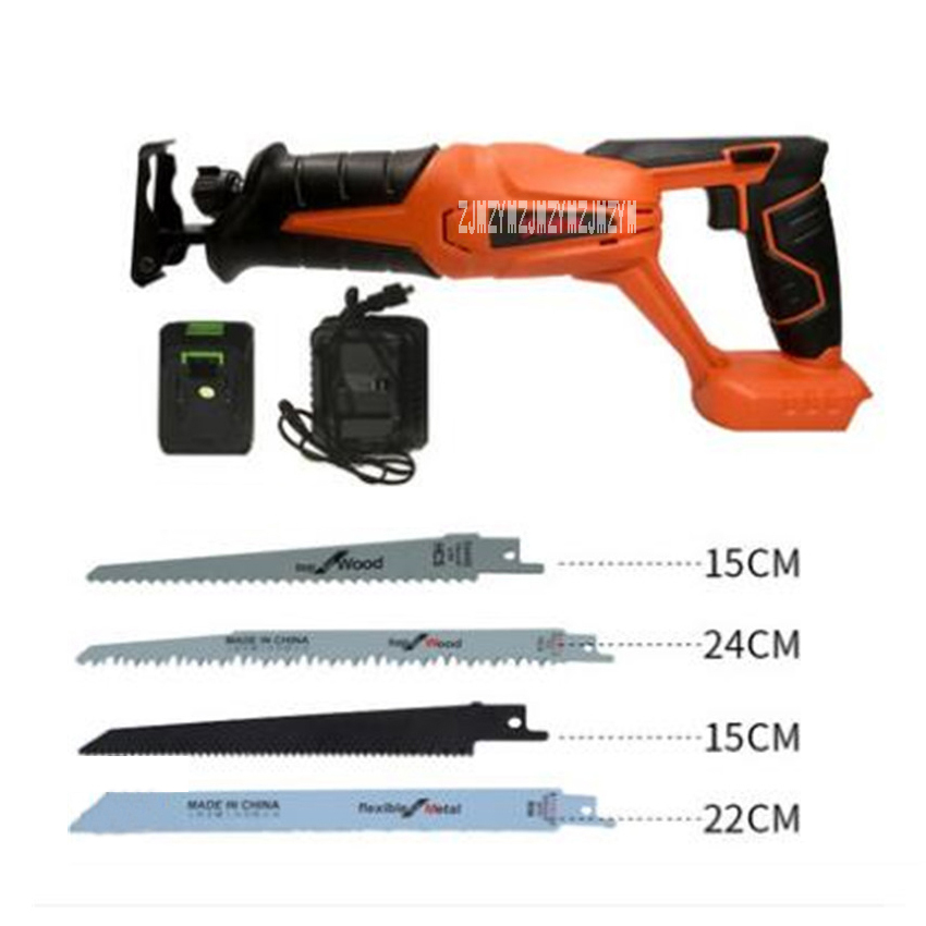 New Hot 20V Lithium Rechargeable 26MM Reciprocating Saw 9606 Household Portable Electric Saws Outdoor Cutting Saws 0-3000R/MIN 30 3000r