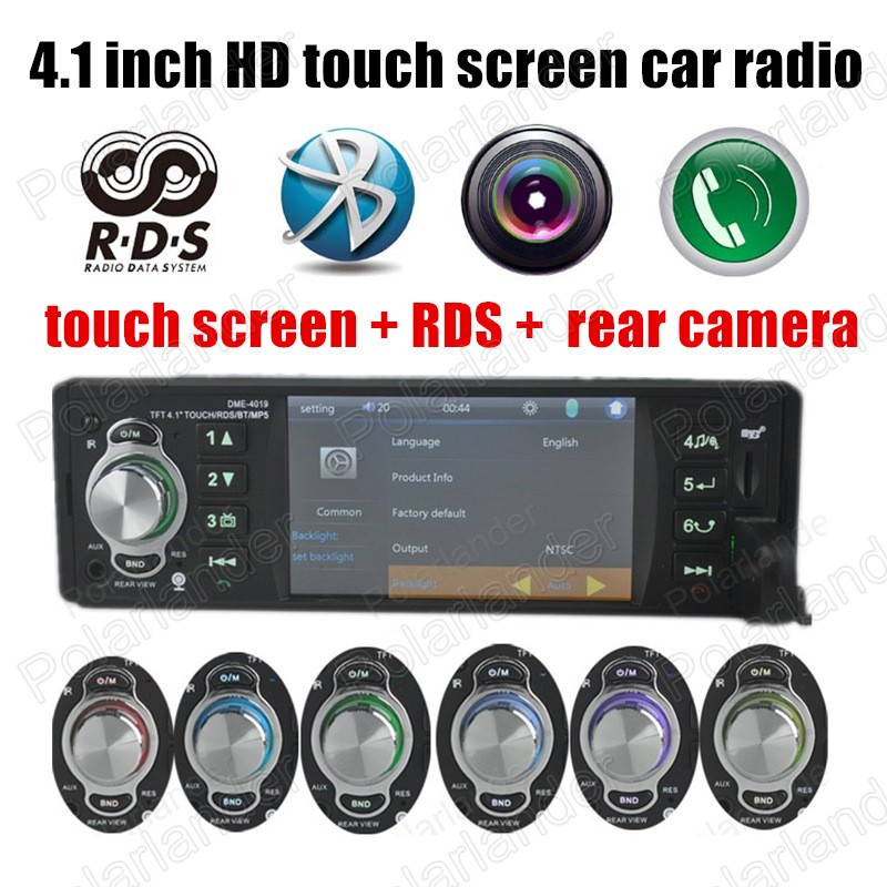 ФОТО Free Shipping Car MP5 Players Stereo FM Radios Aux bluetooth RDS touch screen support Rear View Camera 4.1